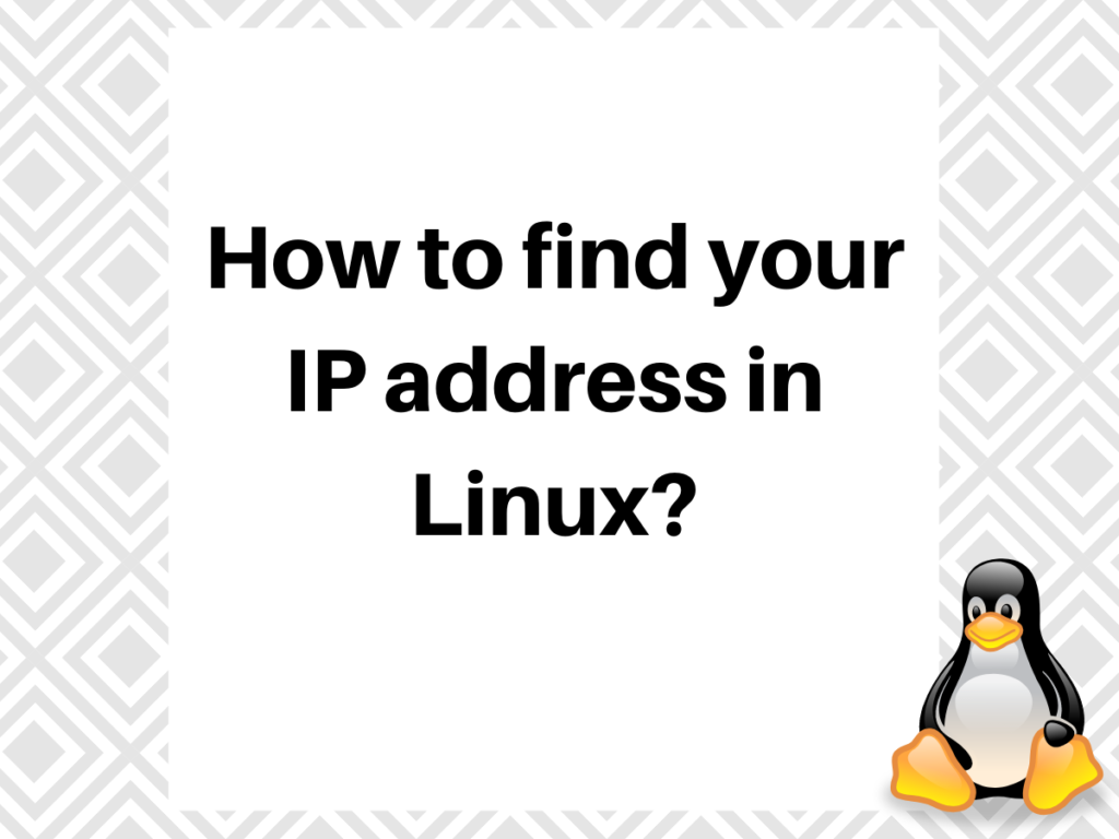 Methods to Find your Private IP Address in Debian 10 ?
