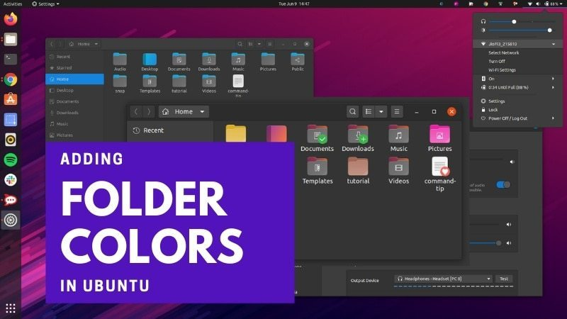 How to modify font type, size, and color of Ubuntu 20.04 LTS terminal ?
