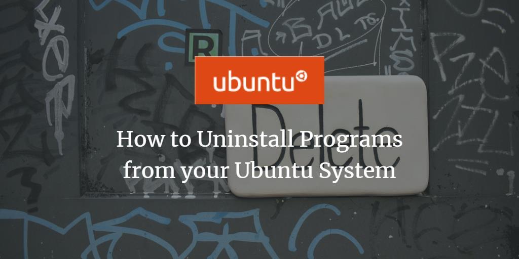 Methods to uninstall programs from Debian 10 ?