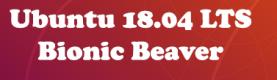Ubuntu 18.04 LTS (Bionic Beaver) Release