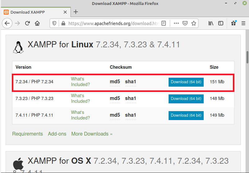 Steps to install XAMPP Server on Linux Mint 20 ?